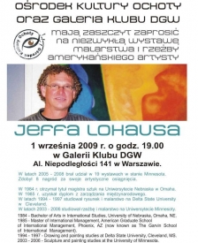 Wernisaż Jeffa Lohausa - plakat